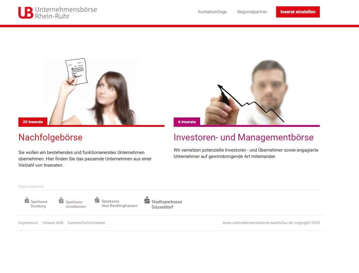 Unternehmensnachfolge Unternehmensbörse Rhein-Ruhr