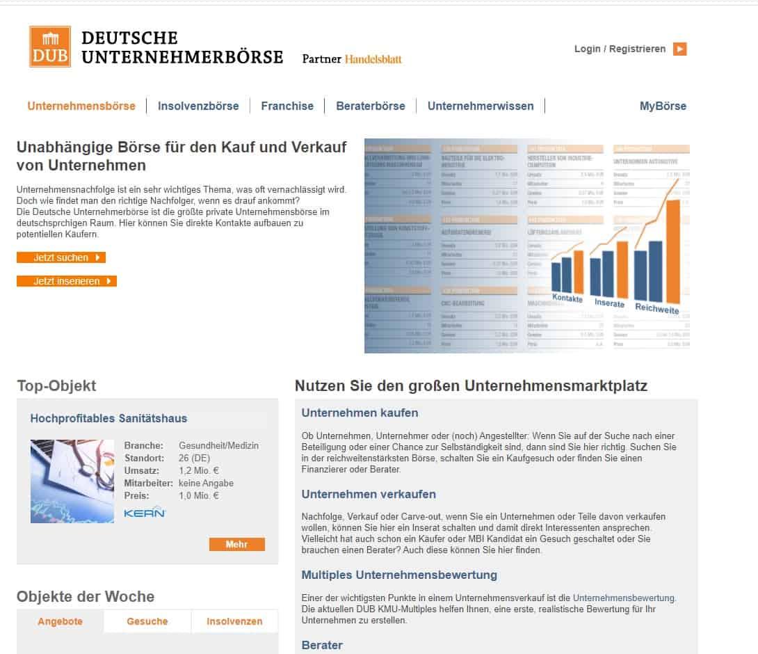 Unternehmensnachfolge Deutsche Unternehmerbörse