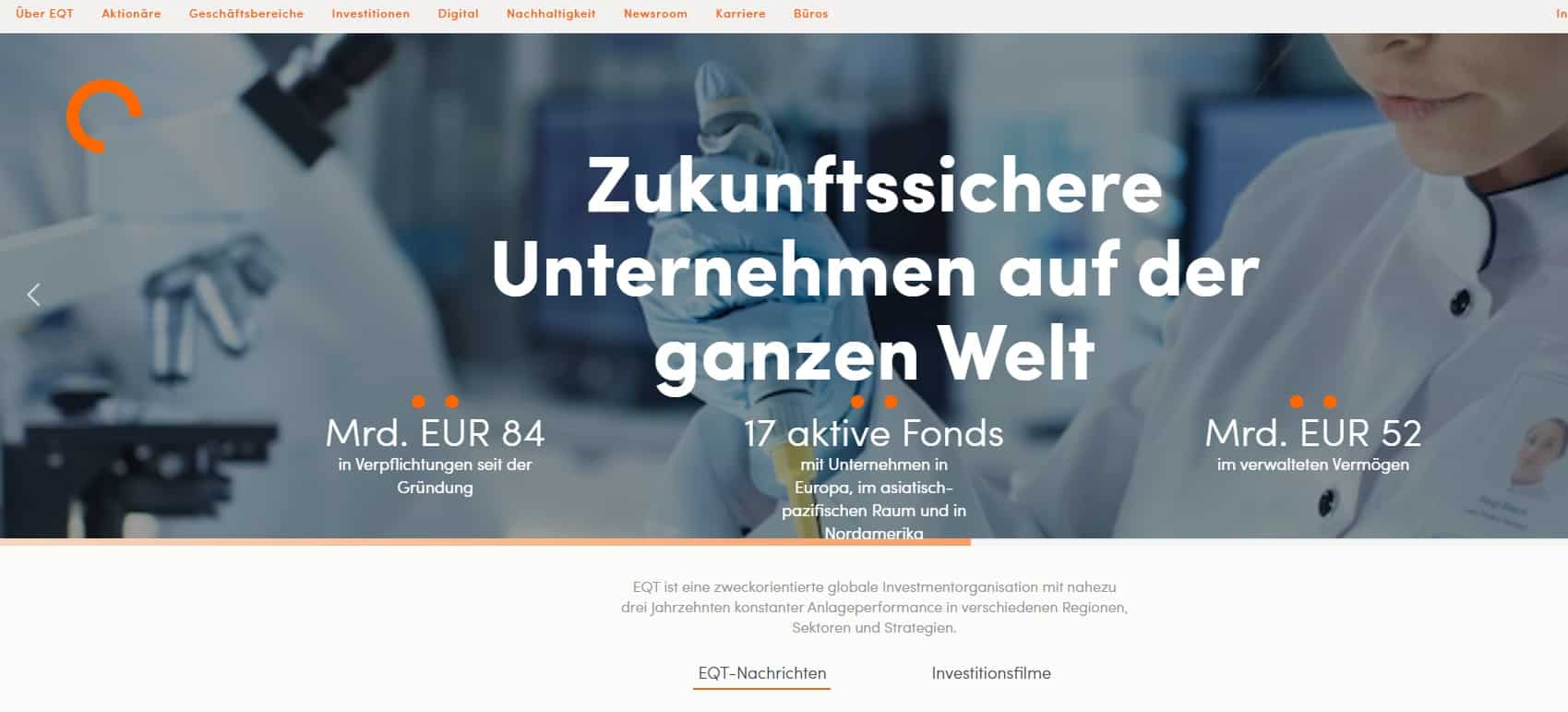 EQT Partners Private Equity Germany Ranking: Top 15 Deutschland Liste