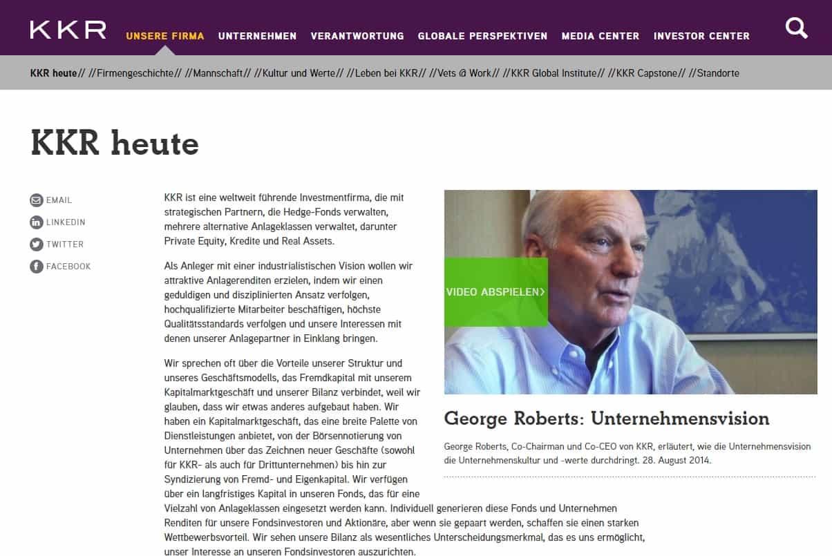 Kohlberg Kravis Roberts & Co. Private Equity Germany Ranking: Top 15 Deutschland Liste