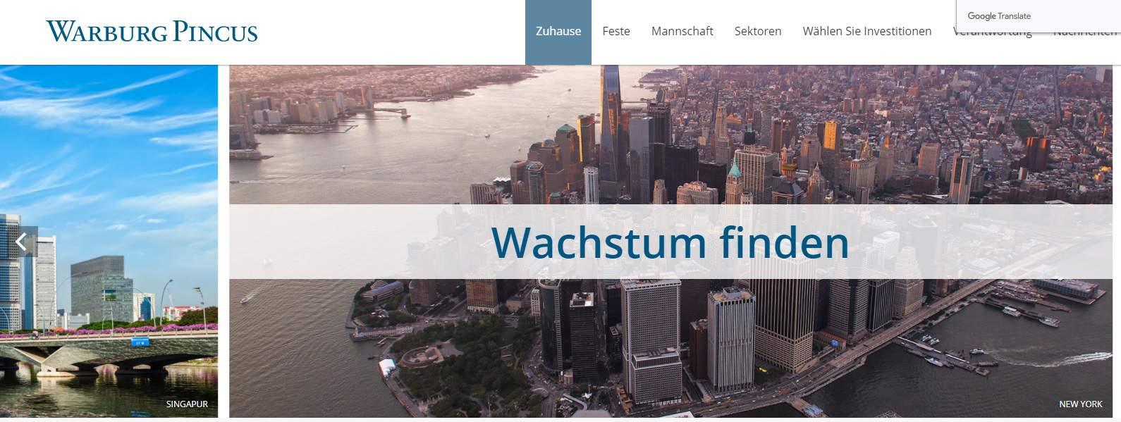 Warburg Pincus Private Equity Germany Ranking: Top 15 Deutschland Liste